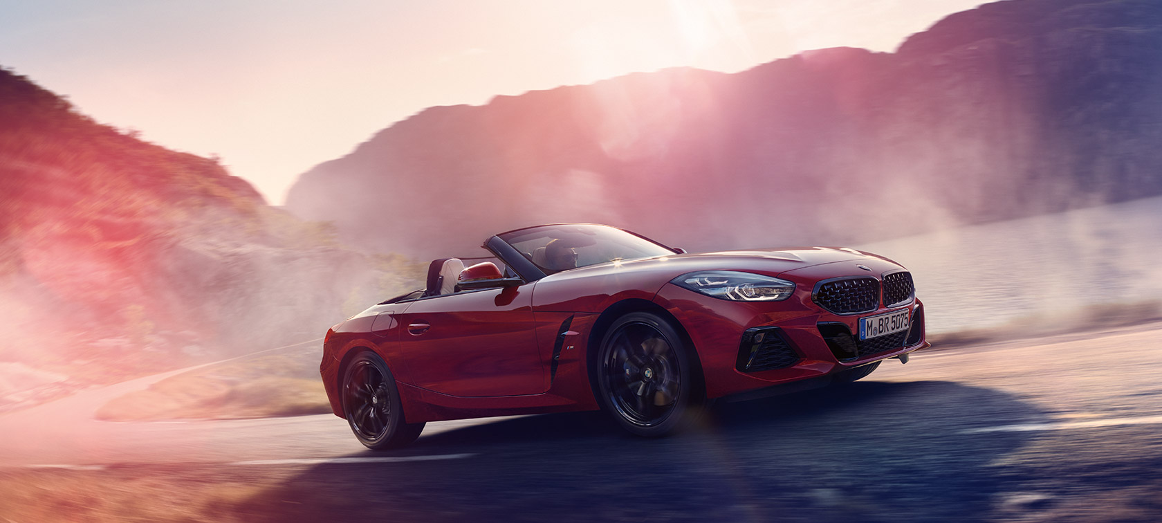 BMW Z4 Roadster on the move