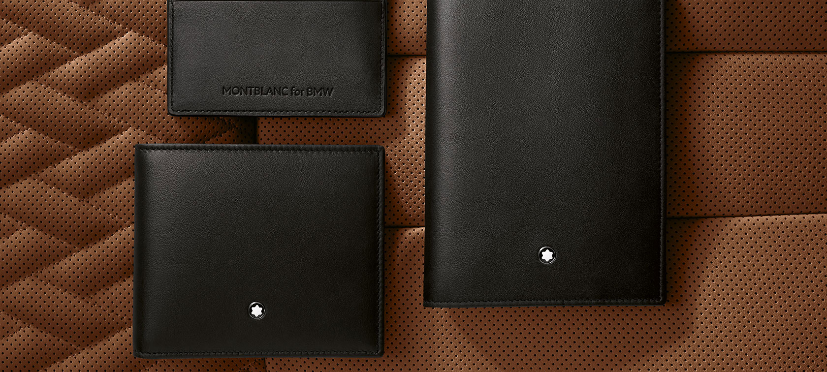 The picture shows the Montblanc for BMW Wallet with Coin Compartment.