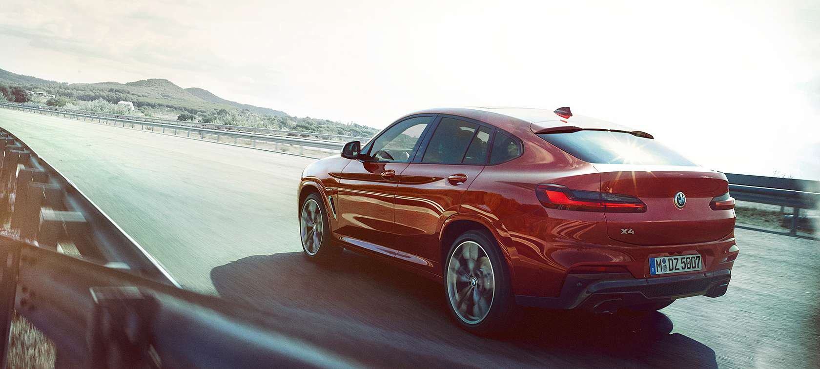 The all-new BMW X4 in action